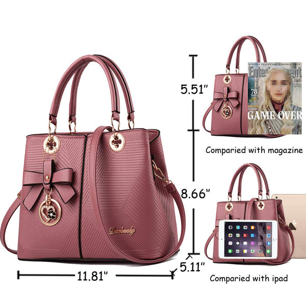 Purses and Handbags Womens Handbags Top Handle Satchel Shoulder Bag Ladies Fashion Designer Purses Tote Bag (1-pink) - wiihuu