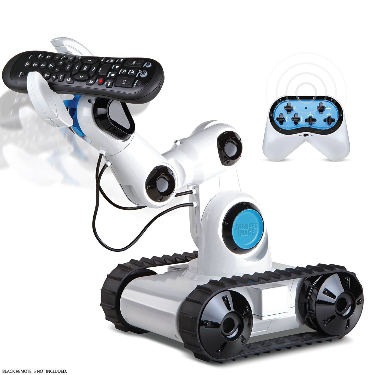 SHARPER IMAGE Full Function Wireless Control Robotic Arm Toy with Spotlight, Jumbo Claw Grip & Tank Tread Wheels, 2.4GHz - wiihuu