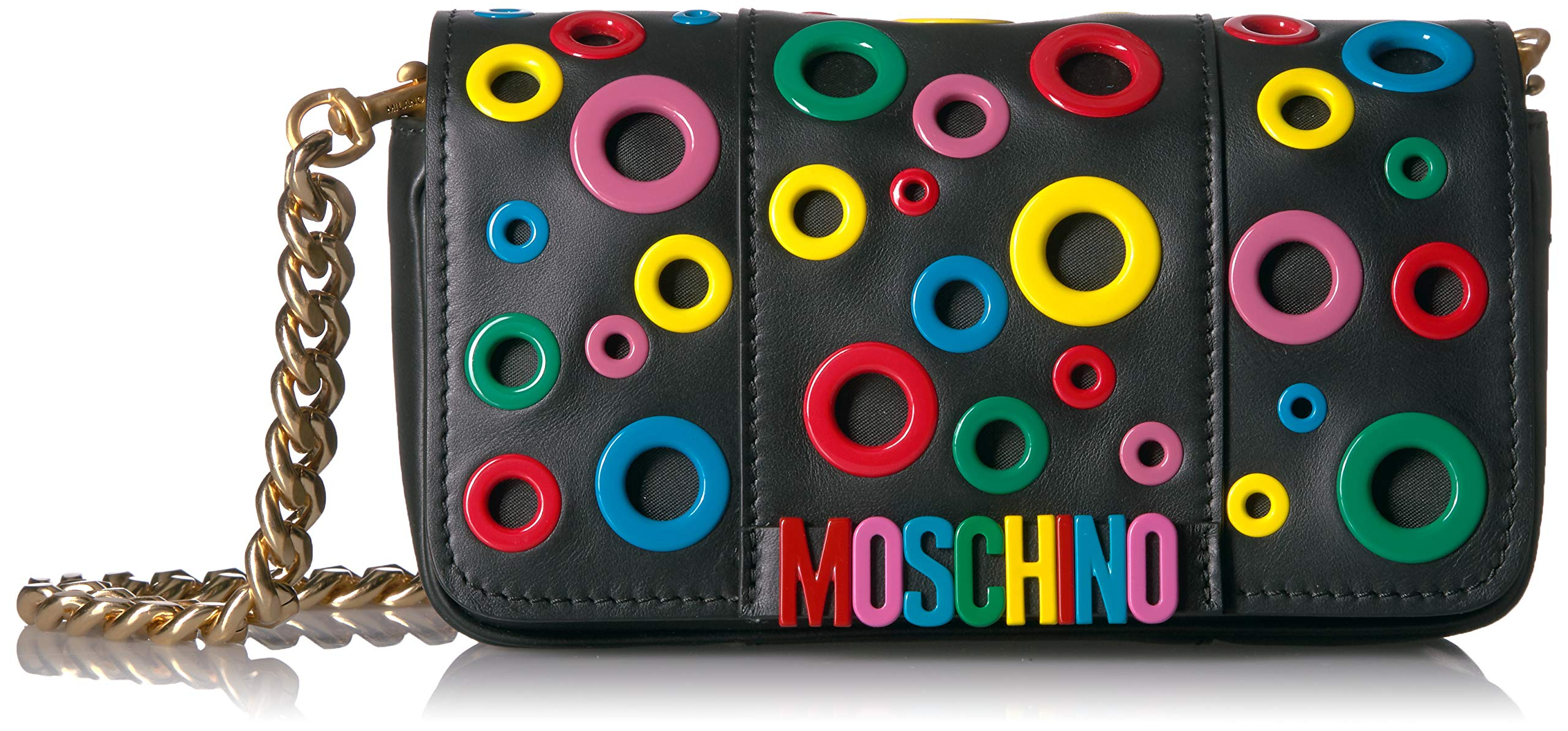 Moschino Women's Mulitcolored Eyelet Logo Shoulder Bag - wiihuu