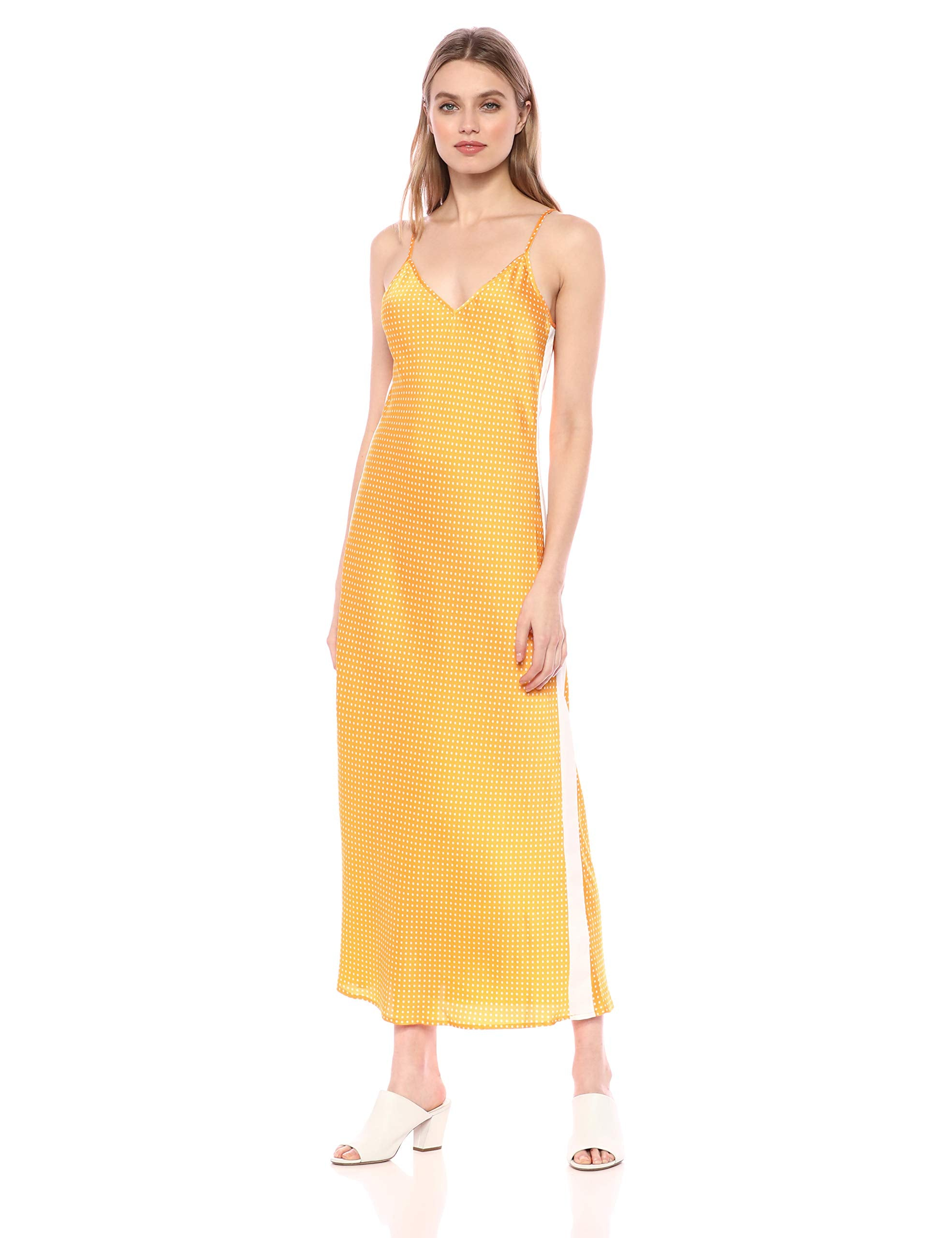 The Fifth Label Women's Fountain Sleeveless Printed Long Maxi Slip Dress, Honey W White, xs - wiihuu