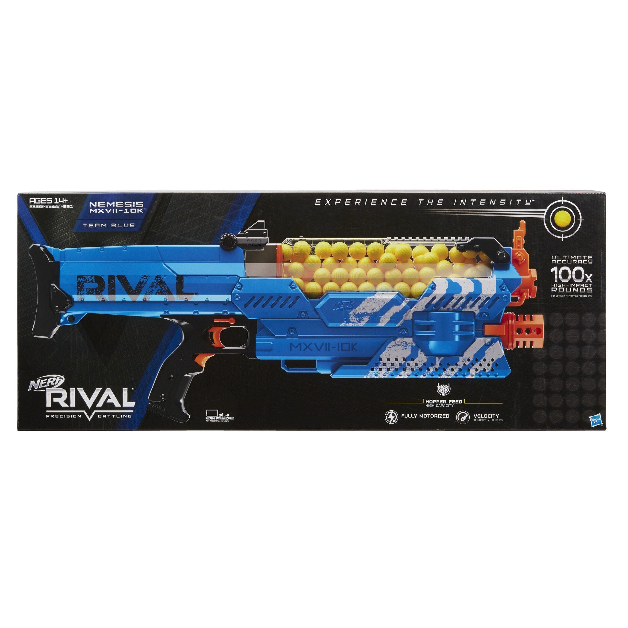Nerf Rival Nemesis MXVII-10K, Blue (Amazon Exclusive), Standard Packaging - wiihuu