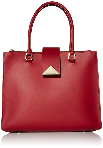 Emporio Armani Designer Medium Size Top Handle Tote, Burgundy - wiihuu