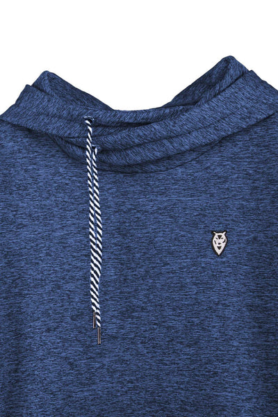 Cutiefox Leisure Side Pockets Front Slim Fit Fleece Hoodie Sport Sweatshirt(Blue,M) - wiihuu