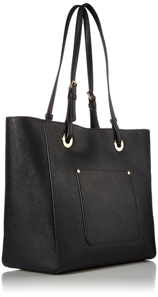 MICHAEL Michael Kors Womens Walsh Leather Shoulder East West Handbag Black Large - wiihuu