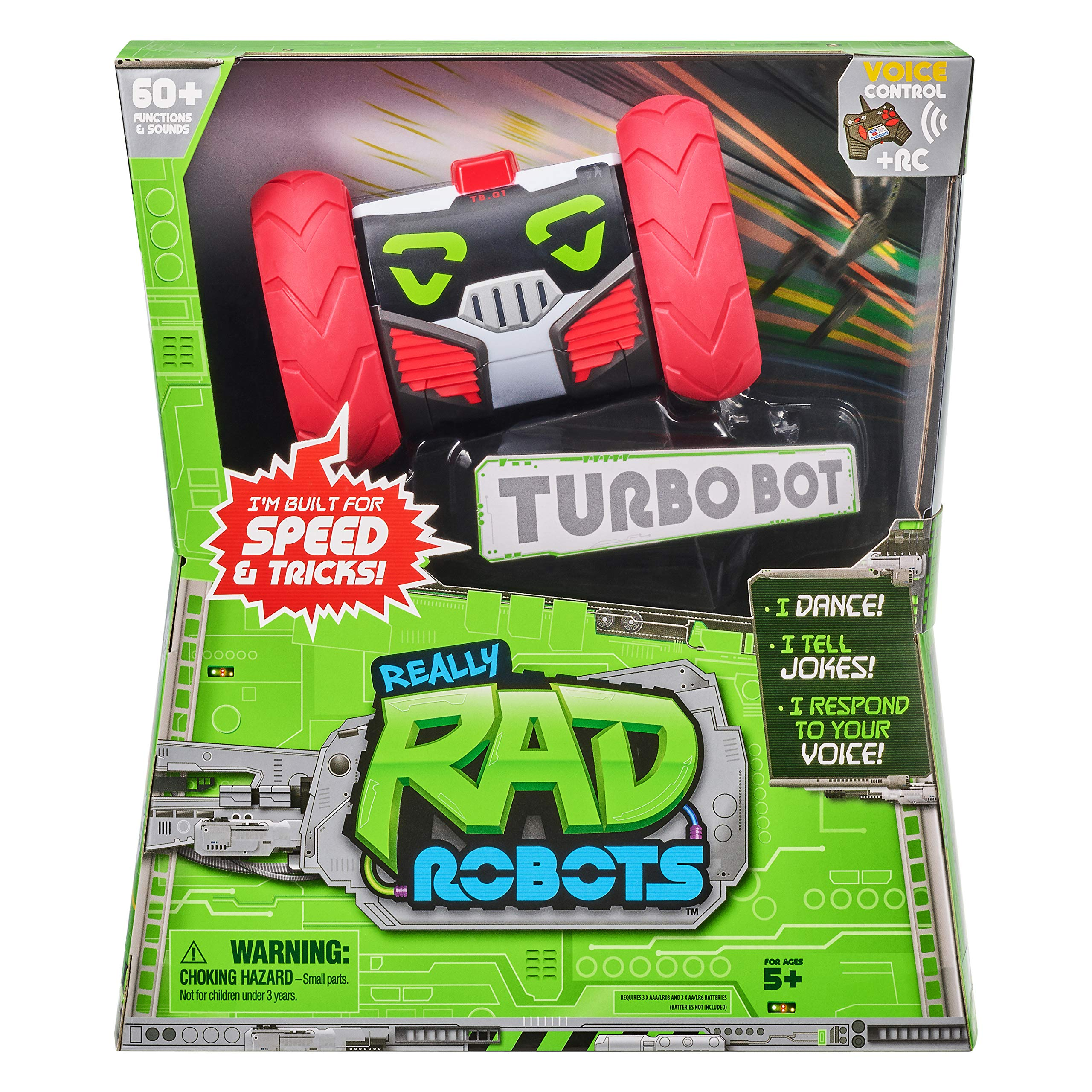 Really RAD Robots - Electronic Remote Control Robot with Voice Command - Built for Speed and Tricks - Turbo Bot - wiihuu