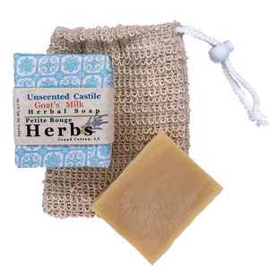Unscented Castile Goat's Milk Herbal Soap