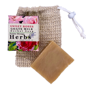 Sweet Roses Goats Milk Herbal Soap