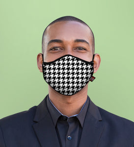 "HOUNDSTOOTH<br><FONT SIZE=""3"">FITTED MASK</FONT>"