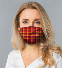 "Load image into Gallery viewer, ORANGE PLAID<br><FONT SIZE=""3"">FLAT MASK</FONT>"