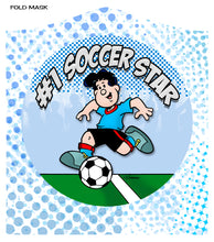 "Load image into Gallery viewer, SOCCER STAR (BOY)<br><FONT SIZE=""3"">FLAT MASK</FONT>"
