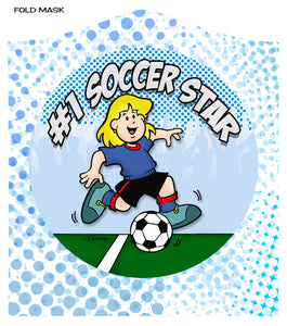 "SOCCER STAR (GIRL)<br><FONT SIZE=""3"">FLAT MASK</FONT>"