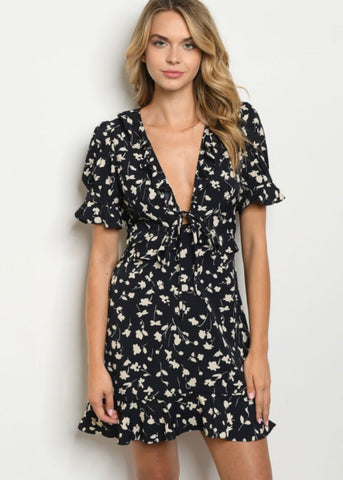 Floral Vine Mini Dress