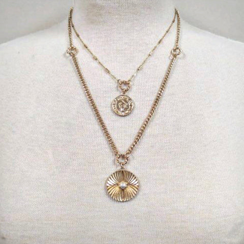 Layered Coin Gold Necklace