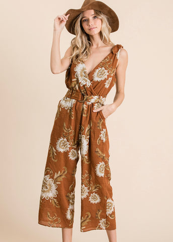 Fall Floral Jumpsuit