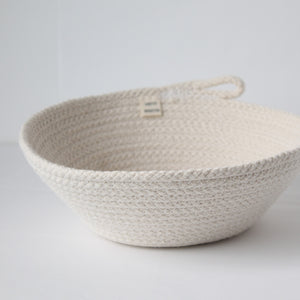 Pure White Shallow Bowl