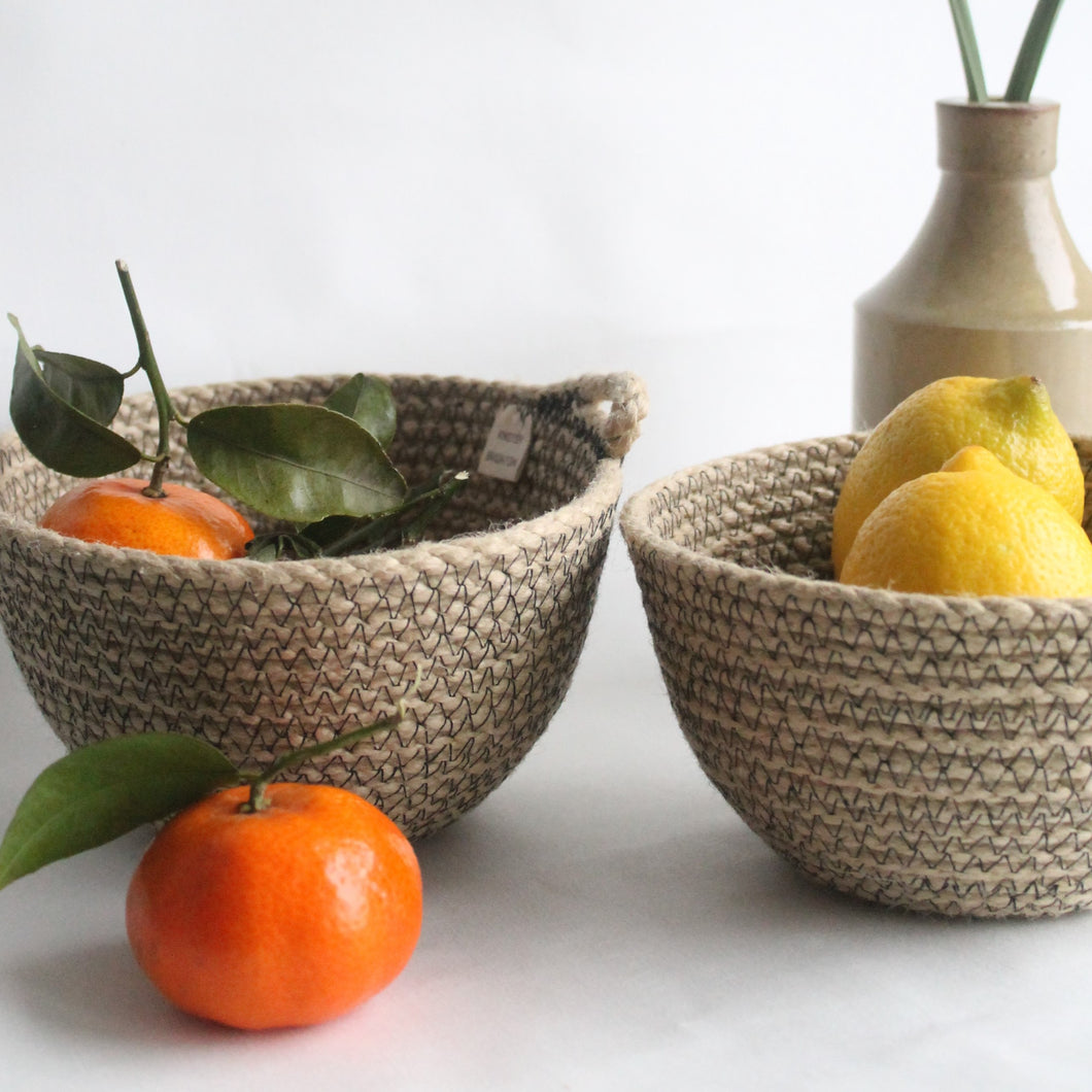 Black Sandstone Everyday Bowl Pair