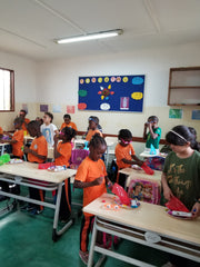 Nora's classroom in Africa