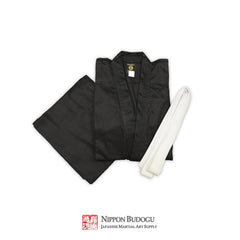 Yamato Sakura Medium Weight Black Karate Uniform
