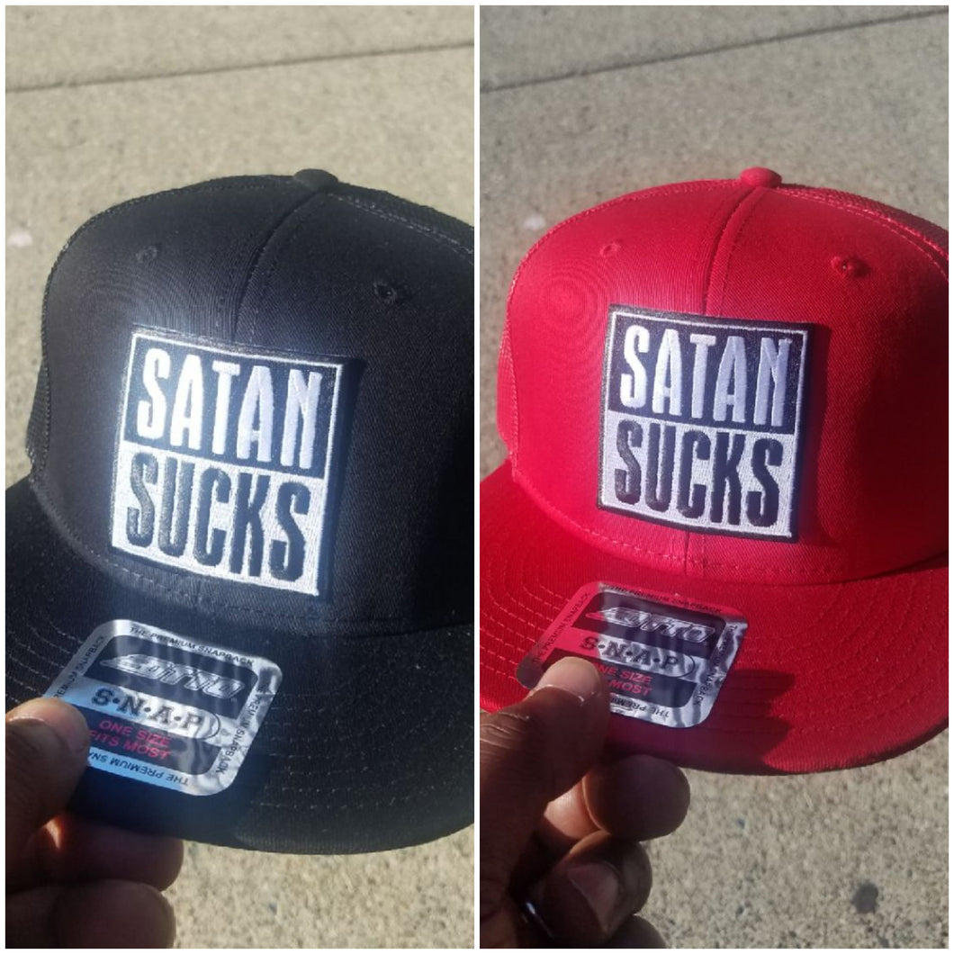 Satan Sucks  Snap Back Ball Cap