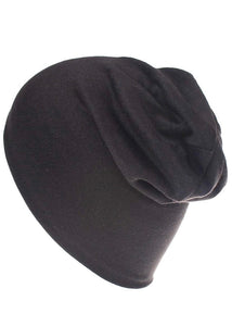 The Brexton Slouchy Black Beanie