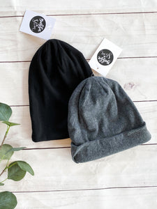 The Brexton Slouchy Gray Beanie