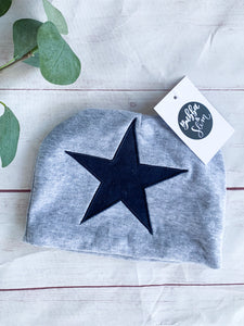The Heath- Toddler  Grey Star Beanie