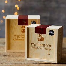Load image into Gallery viewer, McLaren's Christmas Pudding & Fire-Branded Gift Box