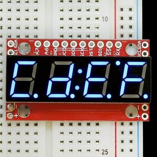 7-Segment Serial Display - Blue (Com-11442) - Led Displays