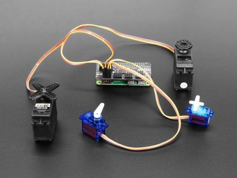 Adafruit 16-Channel Pwm / Servo Bonnet For Raspberry Pi (Id: 3416) - Raspberry Pi Boards
