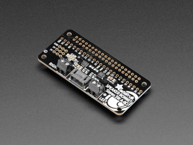 Adafruit I2S 3W Stereo Speaker Bonnet For Raspberry Pi - Mini Kit (Id: 3346) - Audio
