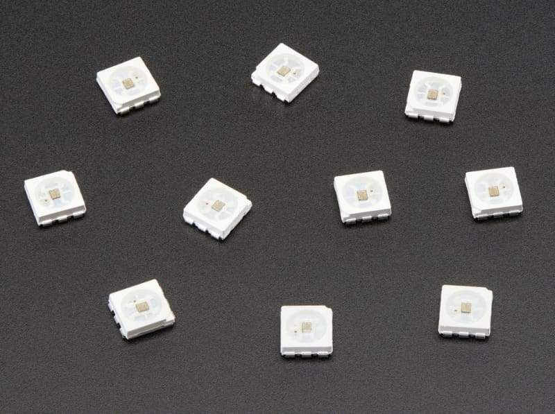 Apa102 5050 Rgb Led With Integrated Driver Chip - 10 Pack - Leds