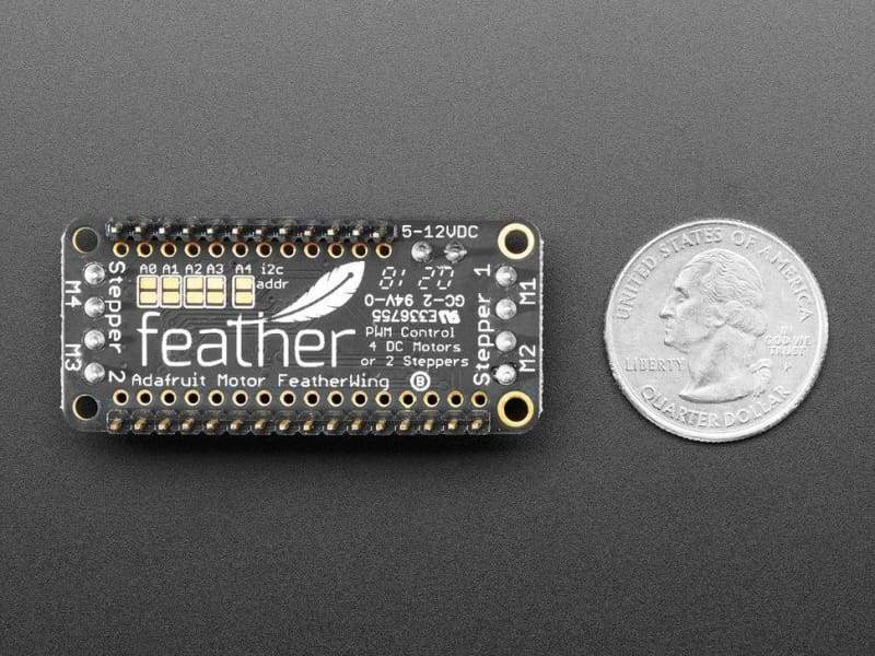 Assembled DC Motor + Stepper FeatherWing Add-on - Feather