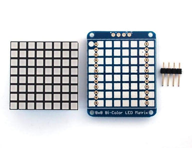 Bi-Colour Led Square Pixel Matrix With I2C Backpack (Id: 902) - Led Displays