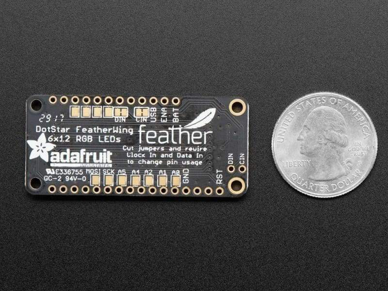 Dotstar Featherwing - 6 X 12 Rgb Leds (Id: 3449) - Led Displays