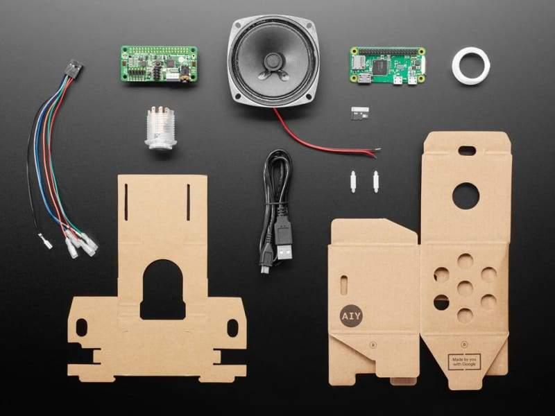 Google Aiy Voice Kit V2 (Raspberry Pi Zero Wh Included) - Raspberry Pi Kits