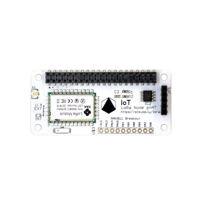 IoT LoRa Node pHAT for Raspberry Pi (Multi Frequency - 868/915MHz) - Wireless