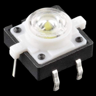 Led Tactile Button - White (Com-10439) - Leds