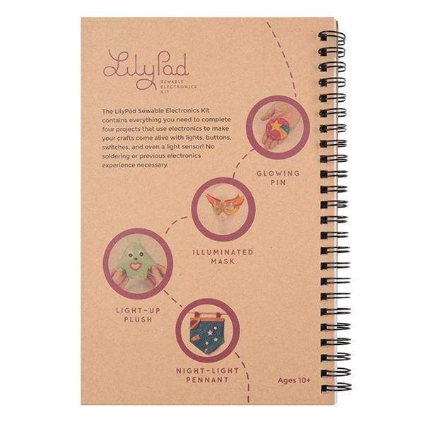 Lilypad Sewable Electronics Kit Guidebook (Bok-14270) - Books