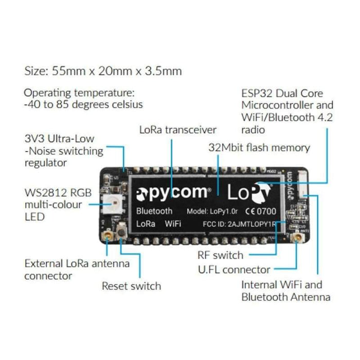 Lopy Lora Wifi + Ble Micropython Dev Board - Other