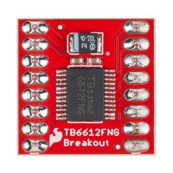 Motor Driver - Dual Tb6612Fng (With Headers) (Rob-13845) - Motion Controllers