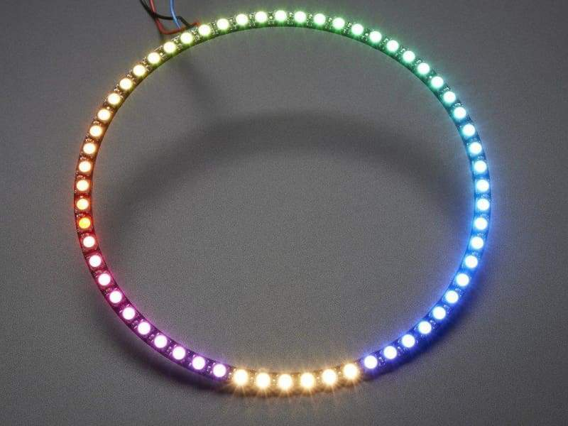 Neopixel 1/4 60 Ring - 5050 Rgbw Led W/ Integrated Drivers - Warm White - ~3000K (Id: 2873) - Leds