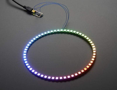 Neopixel 1/4 60 Ring - Ws2812 5050 Rgb Led W/ Integrated Drivers (Id: 1768) - Leds