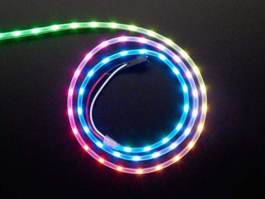 NeoPixel LED Side Light Strip - Black - LEDs