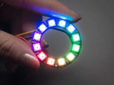 Neopixel Ring - 12 X Sk6812 5050 Rgb Led With Integrated Drivers (Id: 1643) - Leds