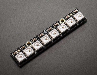 Neopixel Stick - 8 X Ws2812 5050 Rgb Led With Integrated Drivers (Id: 1426) - Leds