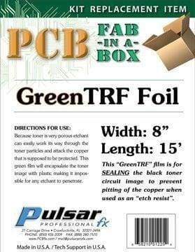 PCB Green TRF Foil - PCB Fabrication