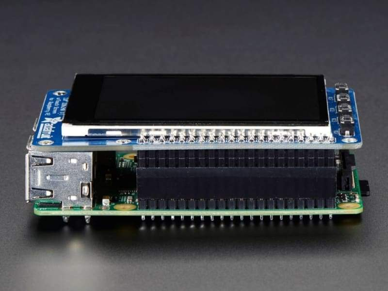 Pitft Plus 320X240 2.8 Tft + Capacitive Touchscreen For Raspberry Pi (Id: 2423) - Lcd Displays