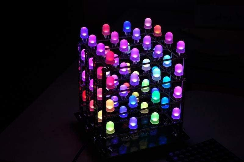 Rainbow Cube Kit Rgb 4X4X4 Assembled - Led Displays