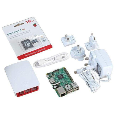 Raspberry Pi 3 Official Starter Kit - White - Raspberry Pi Kits