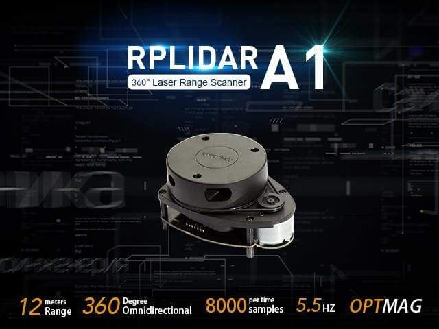 Rplidar A1M8 360 Degree Laser Scanner Kit - 12M Range - Infra Red